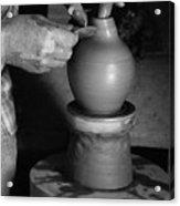 Potter At Work Acrylic Print