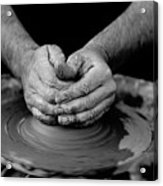 Potters Wheel Creation Acrylic Print