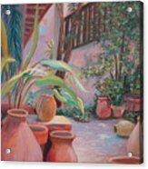 Pottery Garden Acrylic Print