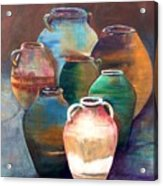 Pottery Jars Acrylic Print
