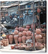 Pottery Shop In India Acrylic Print