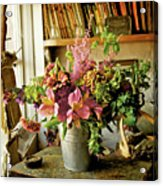 Potting Shed Flowers Acrylic Print by Gerry Walden
