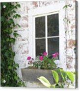 Potting Shed Window Acrylic Print