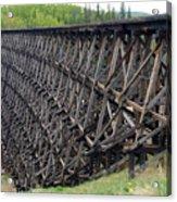 Pouce Coupe Train Wooden Trestle Acrylic Print