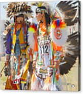 Pow Wow Contestants - Grand Prairie Tx Acrylic Print