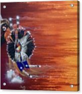 Pow-wow Dancer Acrylic Print