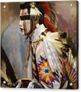 Pow Wow First Nation Dancer Acrylic Print