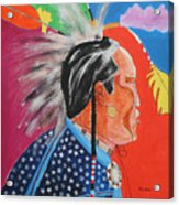 Pow Wow Acrylic Print by Mordecai Colodner