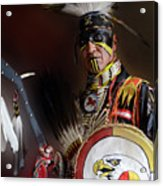 Pow Wow Portrait Of A Proud Man 2 Acrylic Print