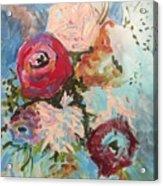Powder Blue Roses Acrylic Print