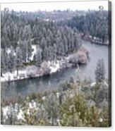 Powdered Spokane River Acrylic Print