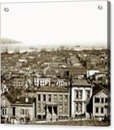 Powell Street Between Sacramento And California San Francisco Circa 1866 Acrylic Print