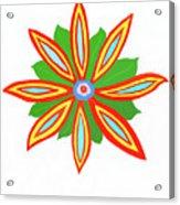 Power Flower Acrylic Print