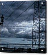 Los Angeles Power Grid At Dusk Acrylic Print