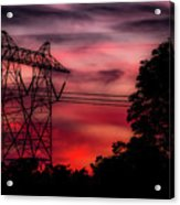 Power In Red Acrylic Print