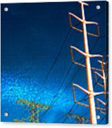 Power Line Light Clouds 2 Acrylic Print