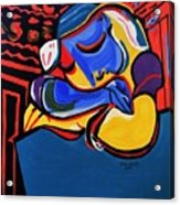 Power Nap  Picasso By Nora Acrylic Print