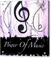Power Of Music Purple Acrylic Print