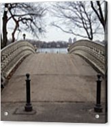 Power Walking In Central Park Acrylic Print