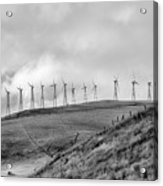 Power Wind Turbines  Bw Acrylic Print