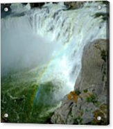 Powerful Large Waterfall Shoshone Falls Amazing Beauty Water Fal Acrylic Print