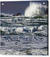 Powerful Waves Crash Ashore Acrylic Print