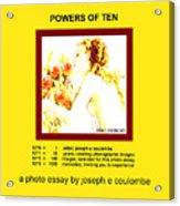 Powers Of Ten In Yellow Acrylic Print