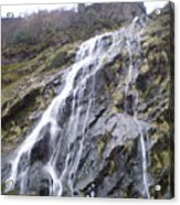 Powerscourt Waterfall In Ireland Acrylic Print