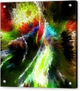 Powwow Dancer Abstract Acrylic Print