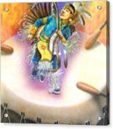 Powwow Dancer Acrylic Print