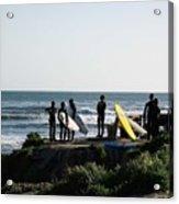 pr 129 - Santa Cruz Surfers Acrylic Print