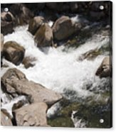 pr 144 - White Water on the Merced Acrylic Print