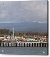 pr 205- The Boardwalk At Santa Cruz Acrylic Print