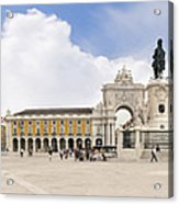 Praca Do Comercio, The Square Of Commerce Acrylic Print