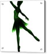 Practice Makes Perfect - Green Acrylic Print