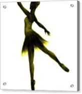 Practice Makes Perfect - Yellow Acrylic Print