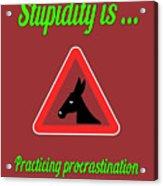 Practicing Bigstock Donkey 171252860 Acrylic Print
