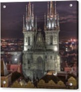 Prague At Night Acrylic Print