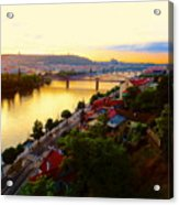 Prague At Sundown Acrylic Print