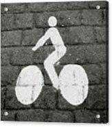Prague Bike Lane-  By Linda Woods Acrylic Print