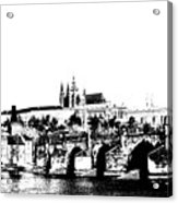 Prague Castle And Charles Bridge Acrylic Print by Michal Boubin