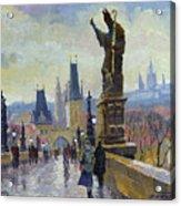 Prague Charles Bridge 04 Acrylic Print by Yuriy  Shevchuk