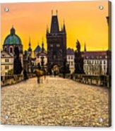 Prague - Charles Bridge - Czech Republic Acrylic Print