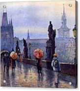 Prague Charles Bridge Acrylic Print by Yuriy  Shevchuk