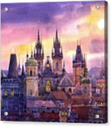 Prague City Of Hundres Spiers Variant Acrylic Print