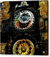Prague Clock Acrylic Print