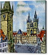 Prague Czech Republic Acrylic Print by Irina Sztukowski