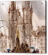 Prague Iv Acrylic Print by Svetlana and Sabir Gadghievs