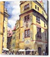 Prague Karlova Street Hotel U Zlate Studny Acrylic Print