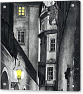 Prague Love Story Acrylic Print